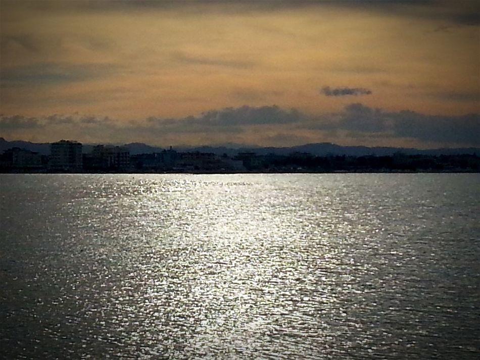 Qui Dove Il Mare Luccica Sea Shine Sky Scenics Contrast Colors Outdoors No People Transportation Nature Reflection Tranquility Sunset Tramonto Travel Orizzonte Orizzonti, Orizont