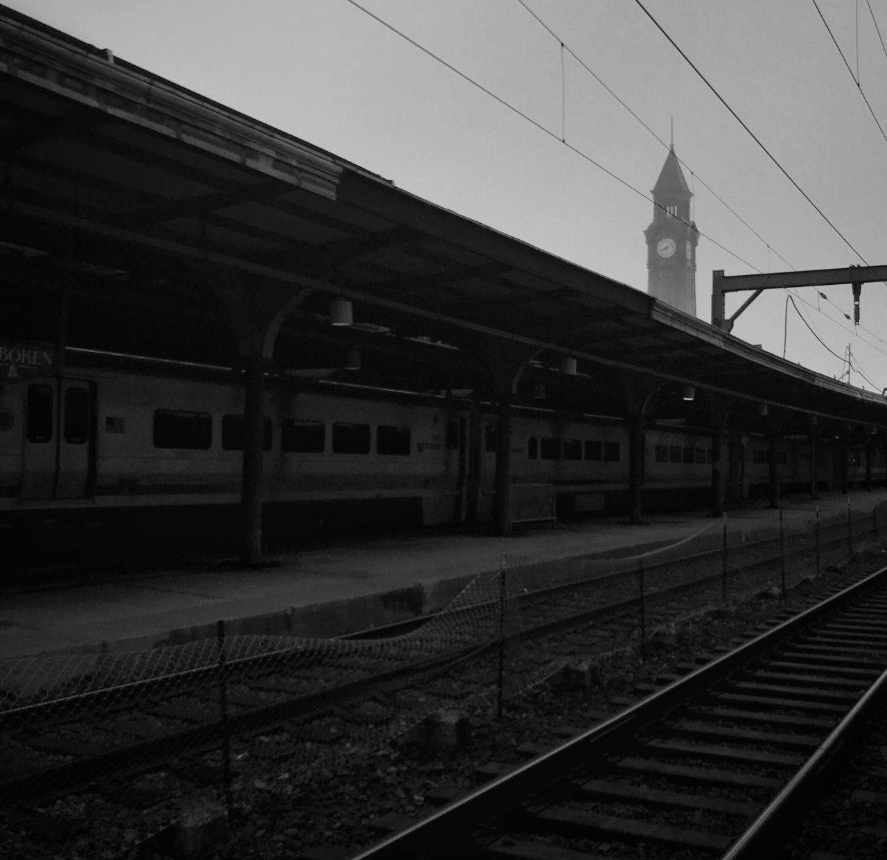 Building Exterior Transportation Built Structure Architecture Railroad Track Rail Transportation Outdoors Railroad Station Sky Day Public Transportation Railroad Station Platform TheMinimals (less Edit Juxt Photography) Blackandwhite