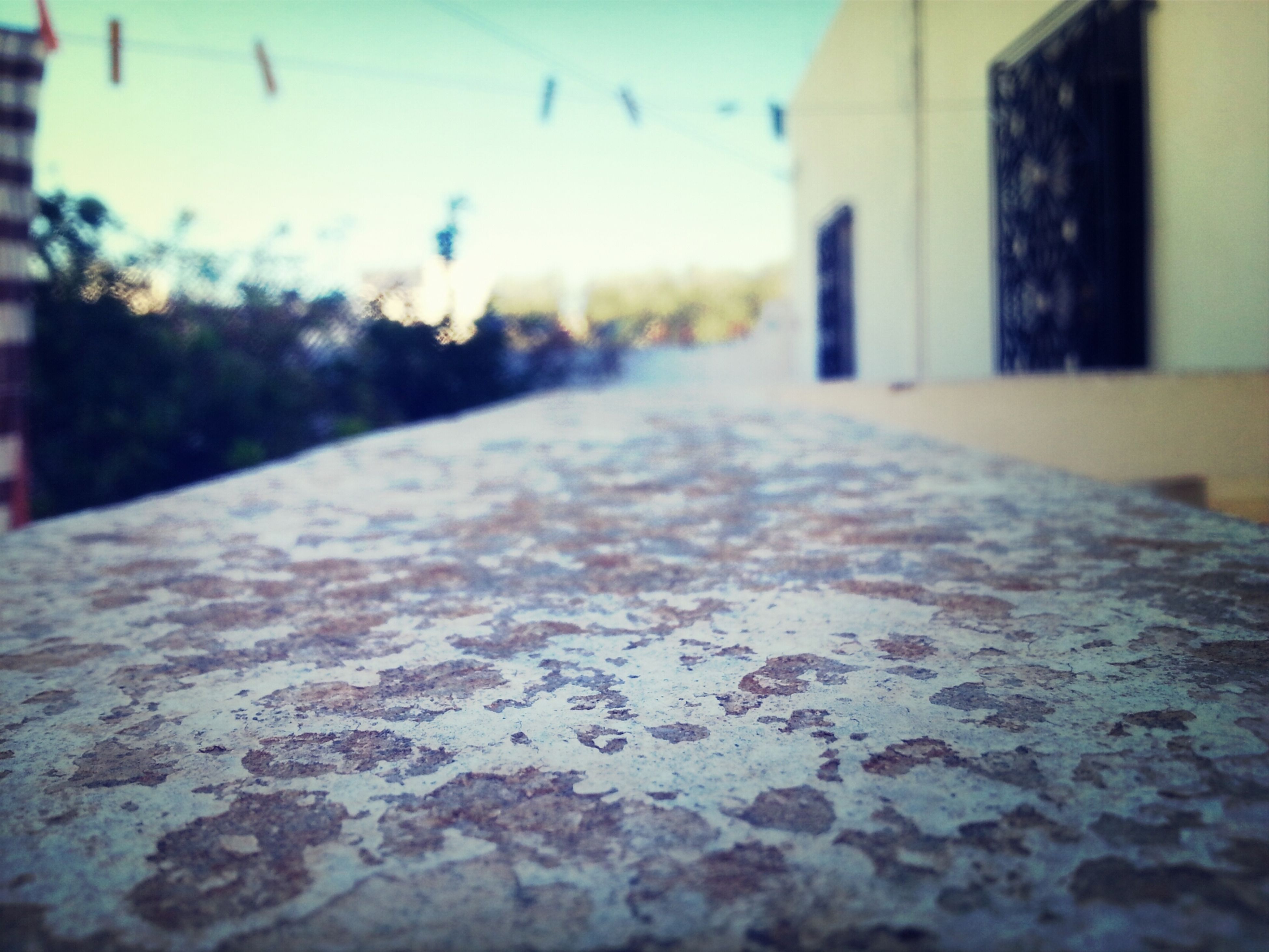 surface level, selective focus, built structure, architecture, focus on foreground, close-up, building exterior, the way forward, day, textured, house, outdoors, no people, diminishing perspective, street, wall - building feature, nature, sunlight, road, season
