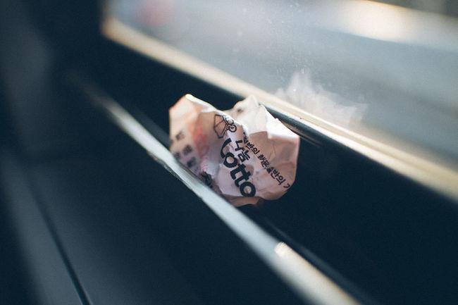 Broken Dreams Bus Close-up Day No People Selective Focus Trash Window