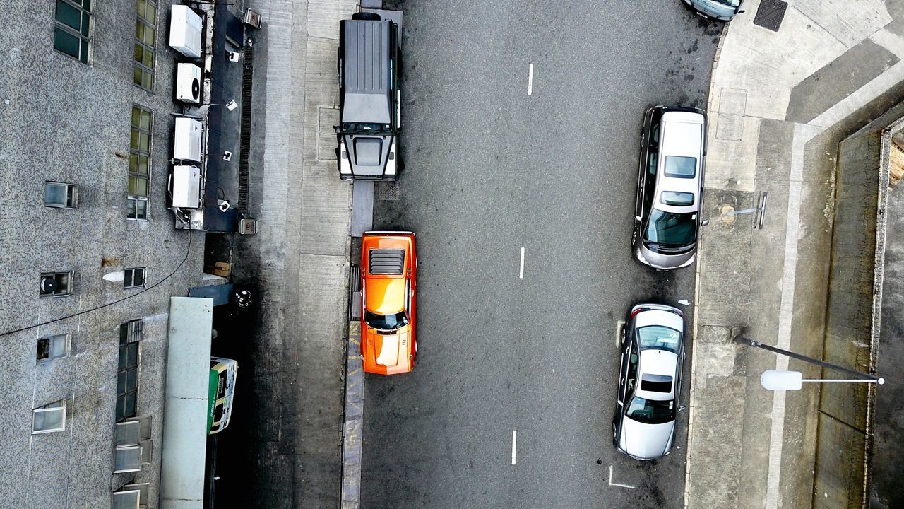 Flying High Street Transportation High Angle View Toyota Celica Toyota Car Vintage Cars