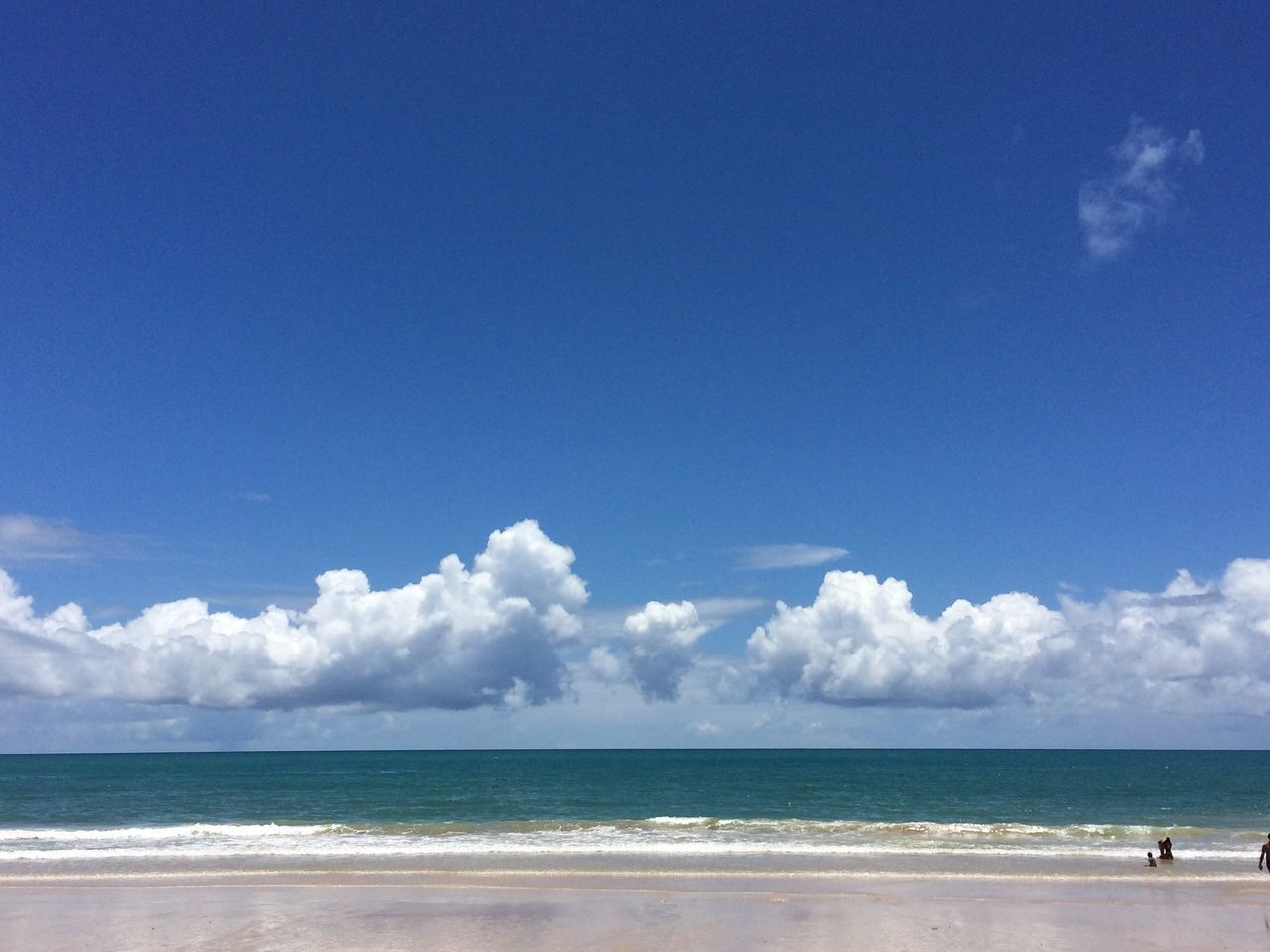 IPhoneography Iphoneonly Iphonephotography Sea Beach Horizon Over Water Sky Blue Scenics Cloud - Sky Tropical Climate Nature