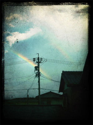 rainbow in Hekinan by Mana  Yoshinokuzu