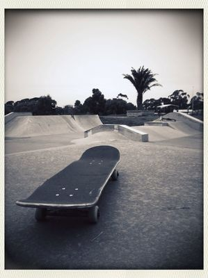 blackandwhite at Sunbury Skatepark by baskwith