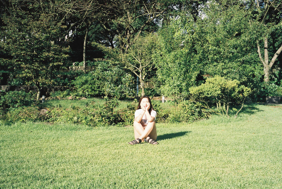 Korea JEJU ISLAND  Jeju Island, Korea Jeju Galaxy One Person Beauty In Nature Summer Happy Green Clear Sky Day Beauty Tree Trip Memories Young Women Selfie Selfie✌ 😚 Film Photography Film Photography