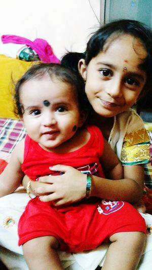 EyeEmNewHere Sister And Brother Love Looking At Camera Indoors  Cute♡ In India Traditional Dress Little Girl Front View Indian Culture  Colorful Childhood Little Girl Smile Week On Eyem And Baby Boy EyeEm Best Shots