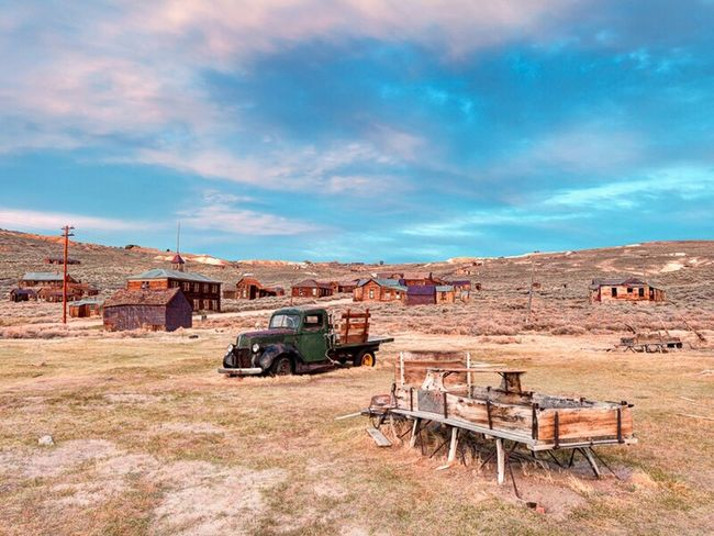 Transportation evolution and abandonment at Bodie State Historic Park. Bodie Old West  Wagon  Truck California Abandoned Places