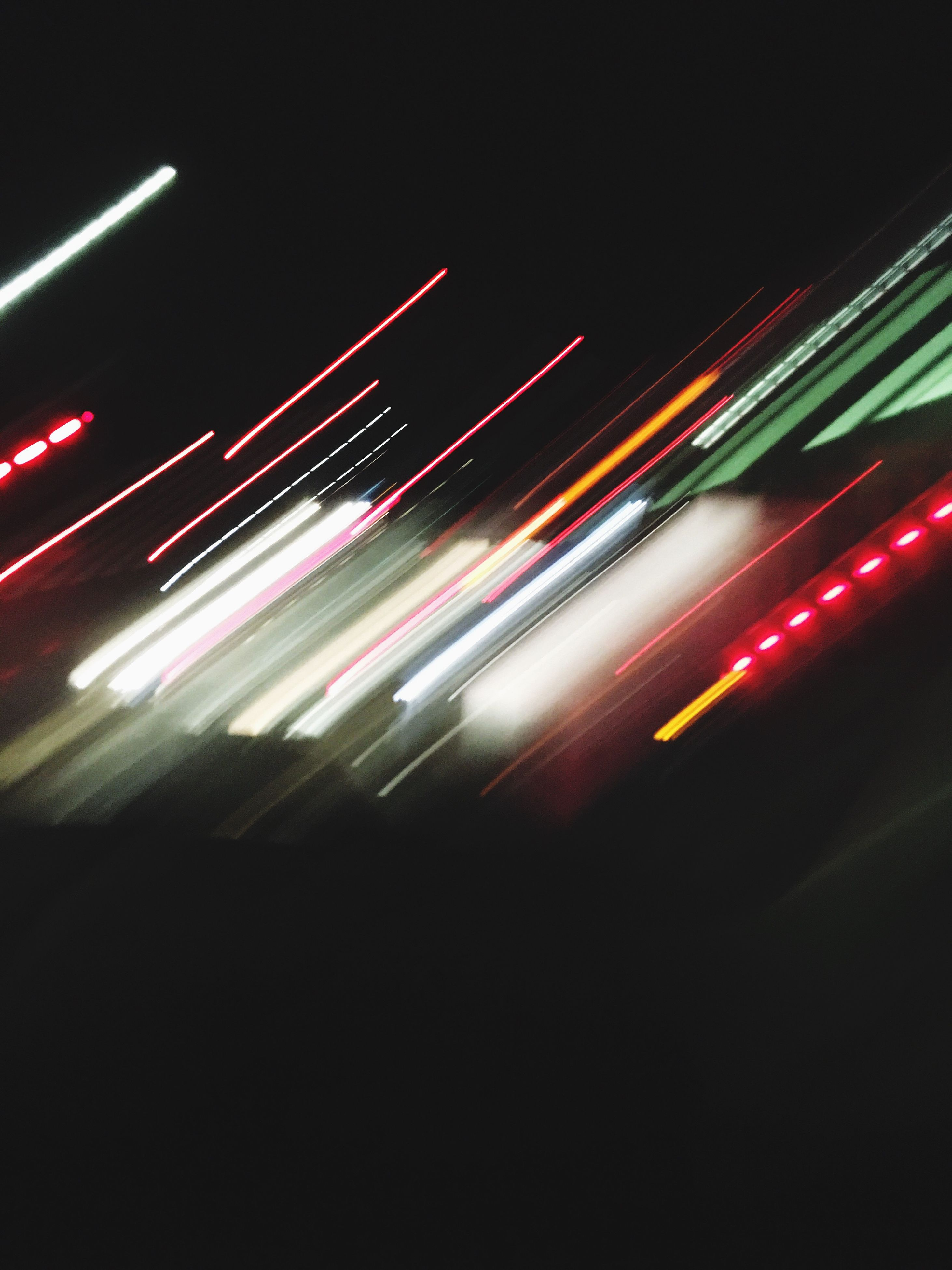 illuminated, night, light trail, long exposure, blurred motion, motion, no people, city, speed, outdoors