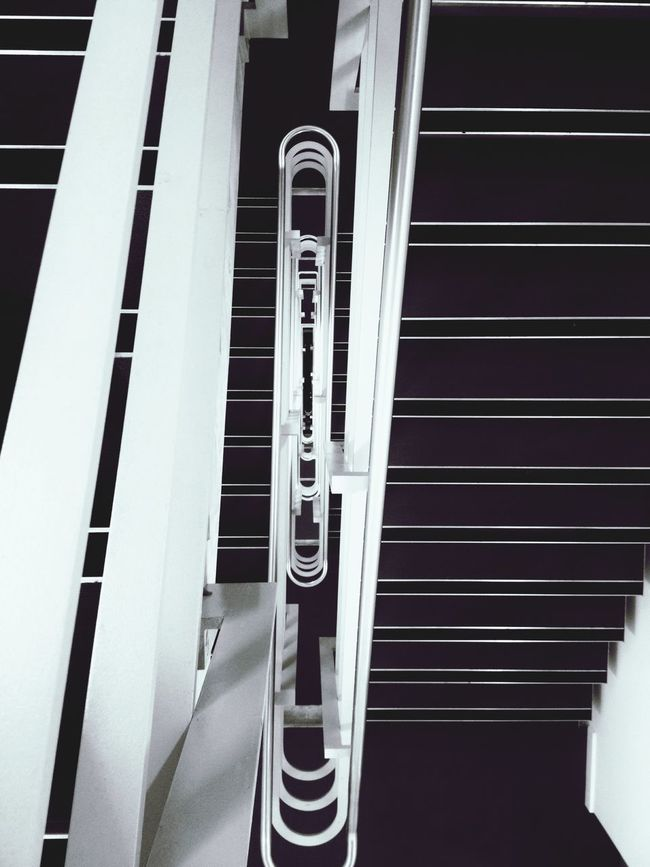 Down Stairs Stairways perspective Symetry symetrical Lines clean Vertigo Minimalist Architecture