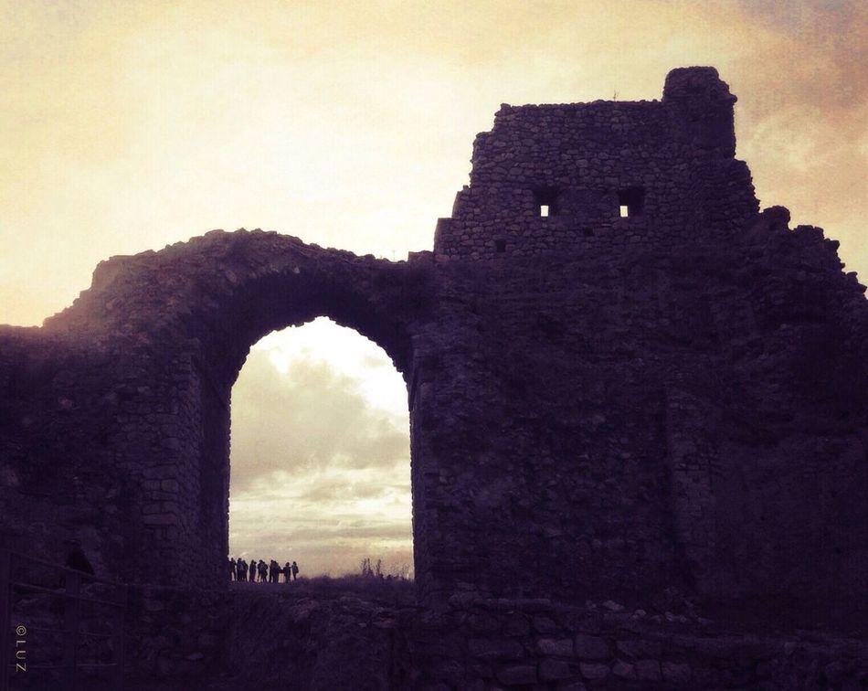 Los ojos de Calatrava la vieja. SPAIN Castle LaMancha Blackandwhite