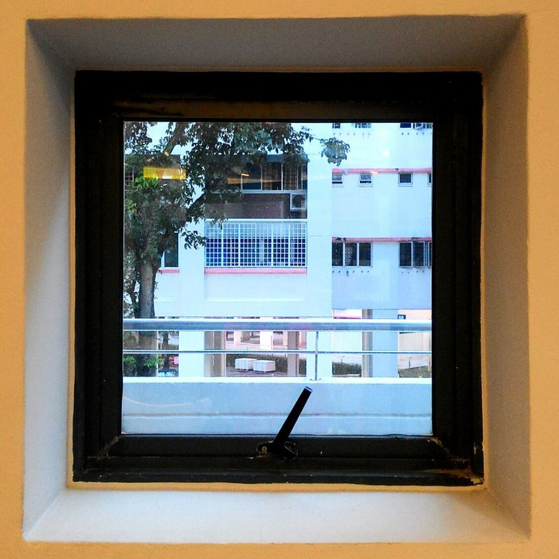 Window Windowframe HDB HDB Flats HDBvoiddeck Singapore No People Square EyeEm Eyeeemsg