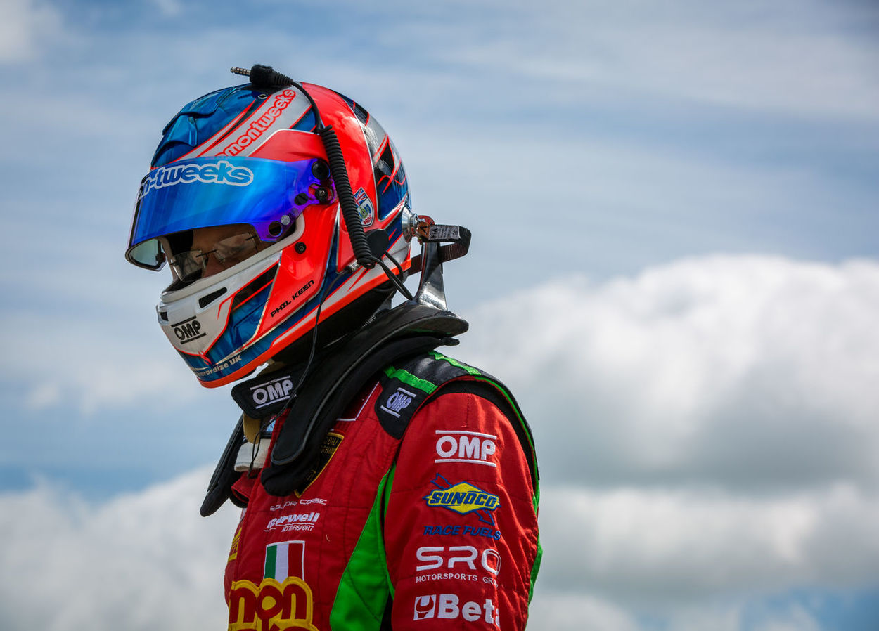 British Gt Cloud - Sky Colour Day Helmet One Person Outdoors Phil Keen Racing Red Silverstone Sky