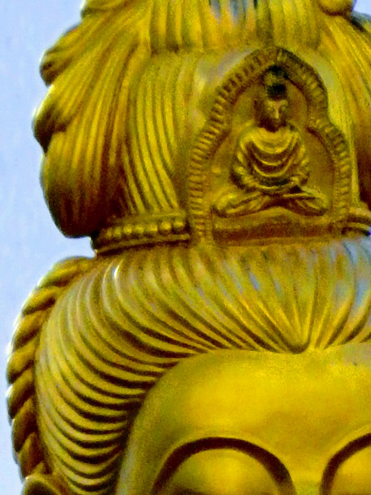 Zoomzoomshot. Guanyin Chinese Goddess. Trang province. Thailand. Religion Statue Gold Colored No People Place Of Worship Sculpture Spirituality Close-up Day Outdoors ZoomInToDetail Zoomzoom Zoom Shot High Angle View FaceShot Traveling Thailand BUDDHISM IS LOVE Shrines & Temples Architecture Buddhist Temple Beautifulplace Outdoors Photography EyeEm Best Shots - Landscape Eyemphotography Beauty In Nature