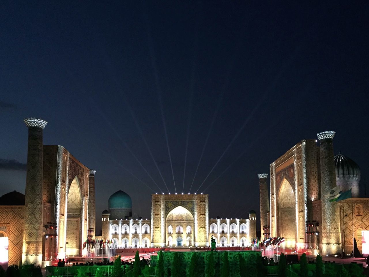 Night Samarkand Music History Silk Road Night Lights Architecture Cities At Night Central Asia