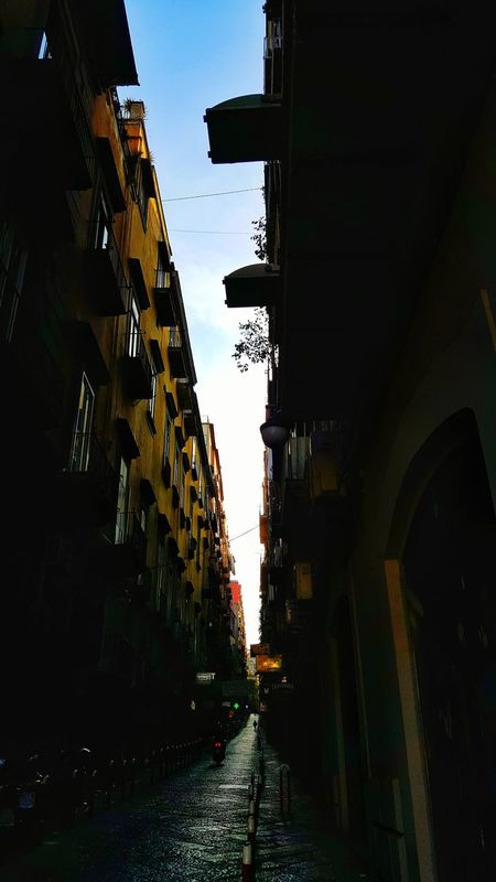 Architecture Built Structure Travel Destinations City Building Exterior Small Street Italy Travel Outdoors Day Small Road Naples City
