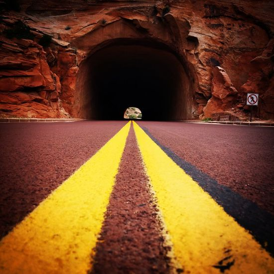 Road Arch Yellow The Way Forward Architecture Tunnel Archway Diminishing Perspective Surface Level Arched No People Full Frame Paint The Town Yellow Paint The Town Yellow EyeEmNewHere