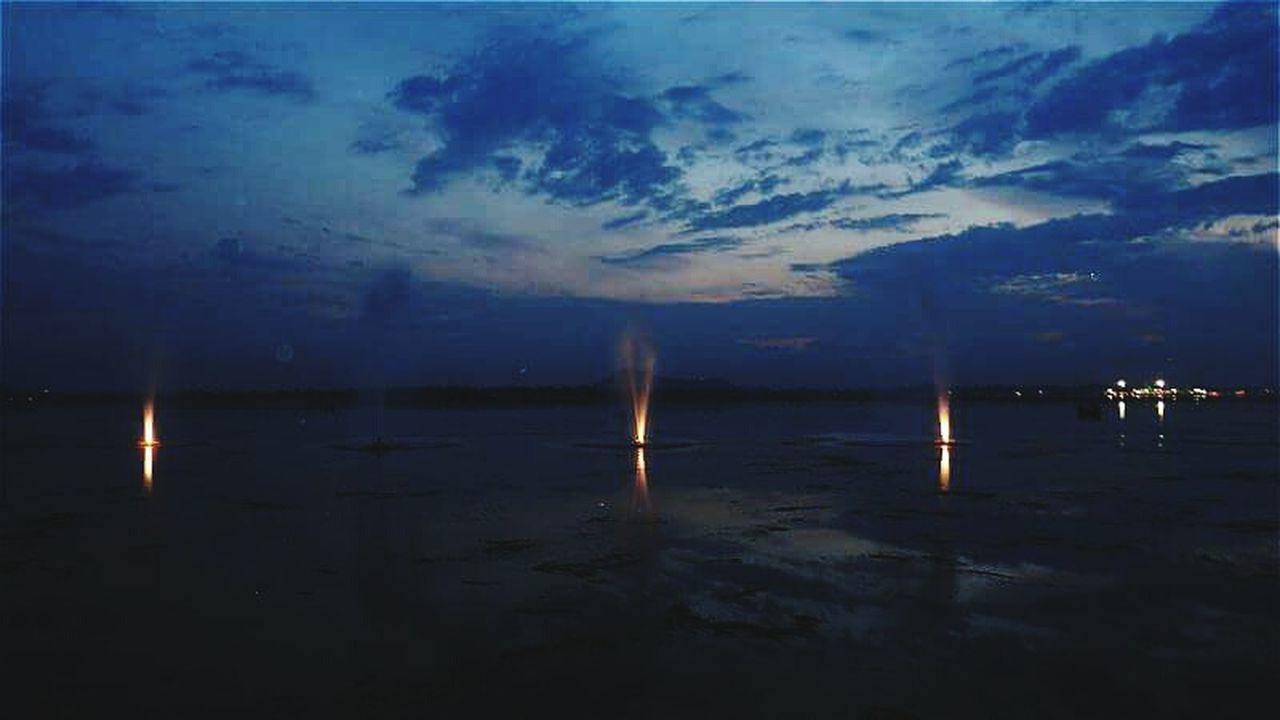 sky, water, nature, sea, cloud - sky, no people, tranquil scene, outdoors, scenics, tranquility, night, beauty in nature, beach
