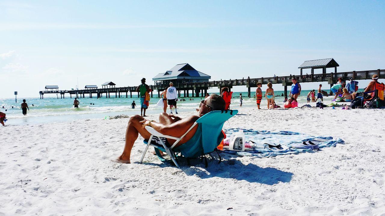 Beautiful stock photos of senior, Beach, Day, Full Length, Lounge Chair