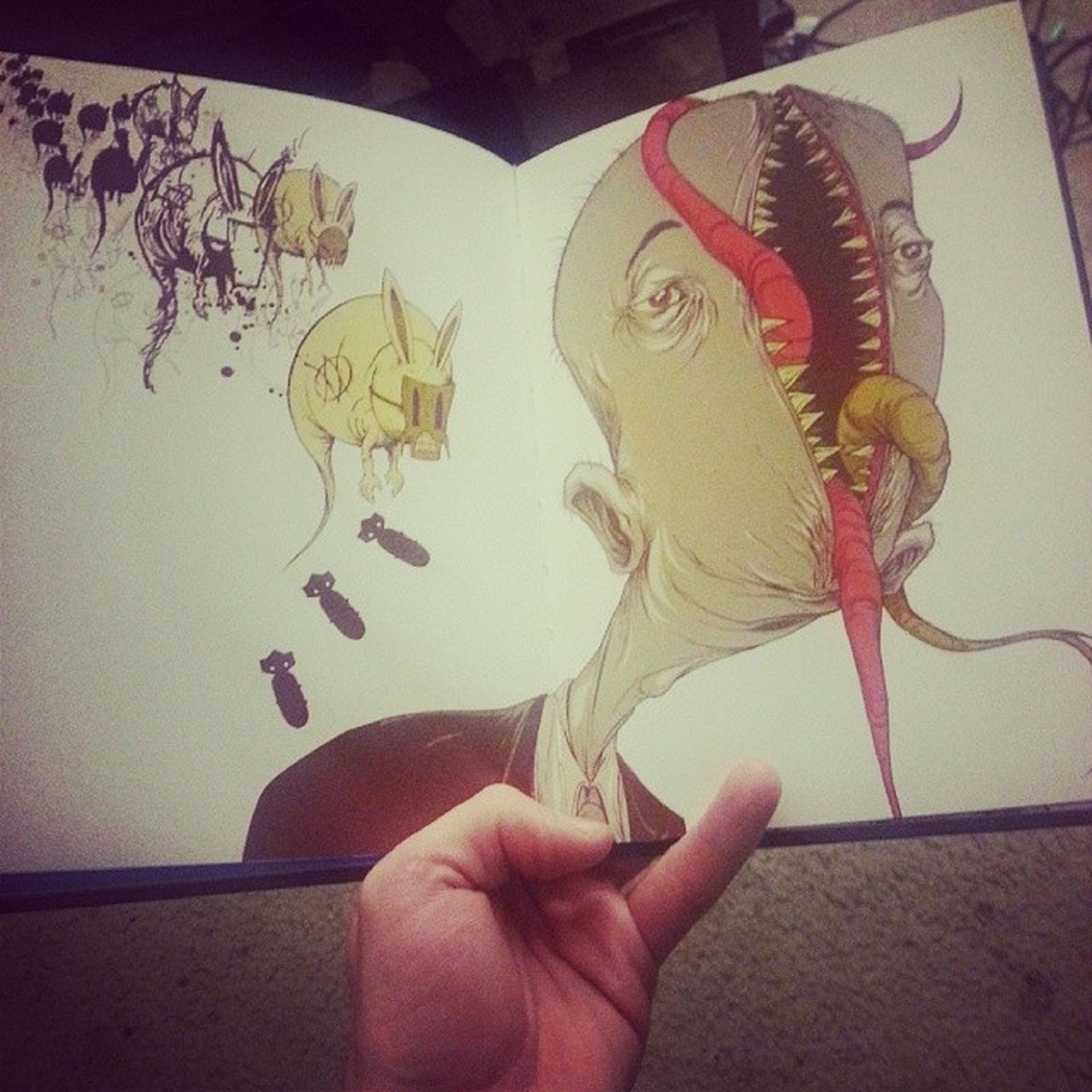 My girlfriend got me the @alexpardee Awfulhomesick book. Best gift ever. Xmas Christmas