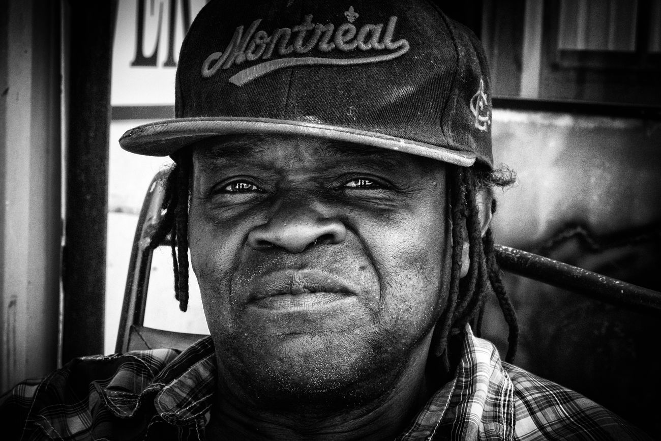 """The Portraitist - 2017 EyeEm Awards Roy lives in Montreal and works at a car wash doing body work. His passion is music. He lives for the rhythm... """"Like a crack head, I'm a music head."""" _______________________________________________________A multimedia video I created about Roy is on Vimeo called """"Murder"""" wait till after the black screen to find out why. https://vimeo.com/154339178 Blackandwhite Andreapritchard Montreal, Canada Photojournalism Portrait Musician"""