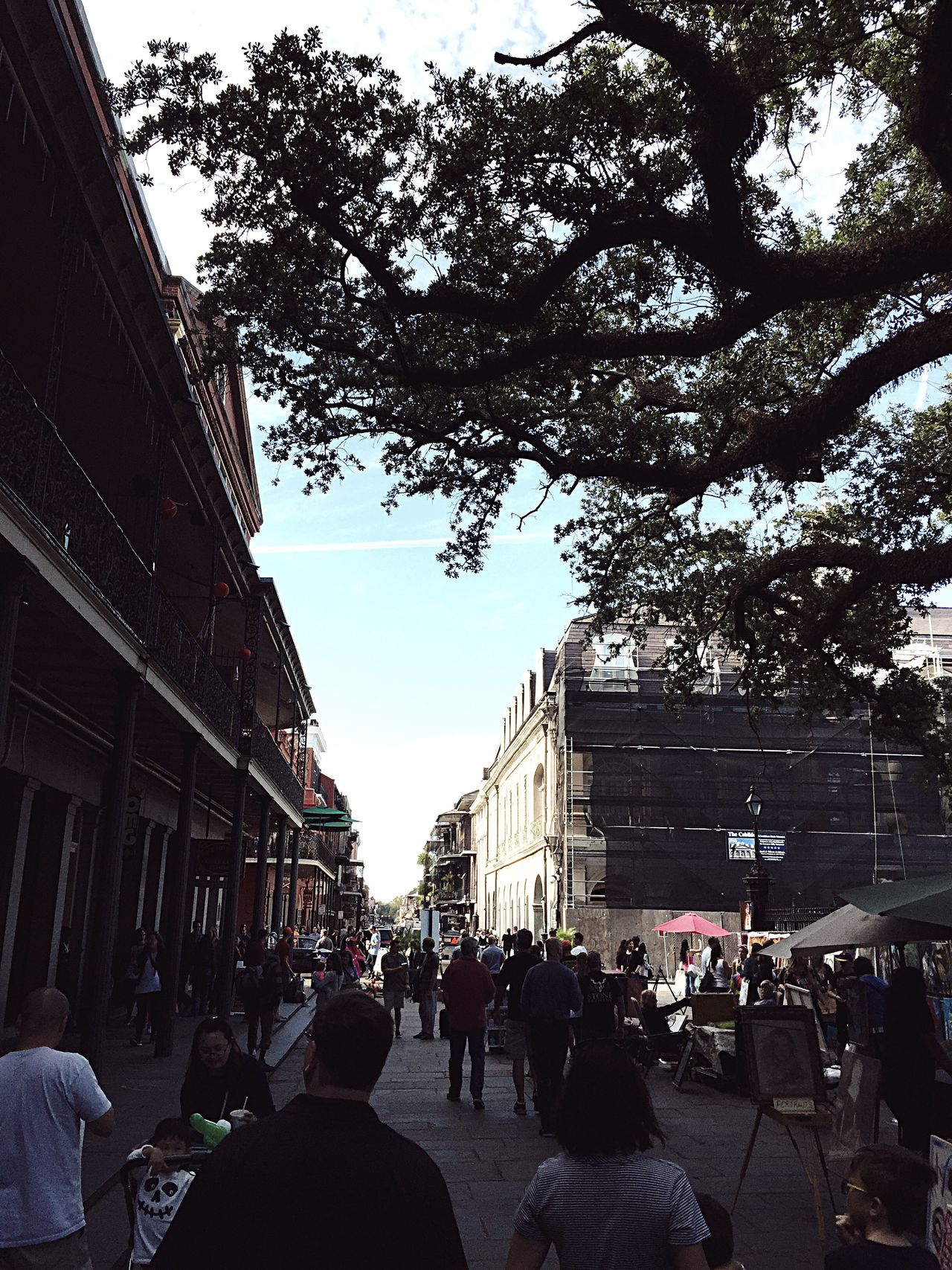 Building Exterior Architecture Built Structure Tree Large Group Of People City Street Real People Sky Men Women Day Outdoors Adult People Jackson Square
