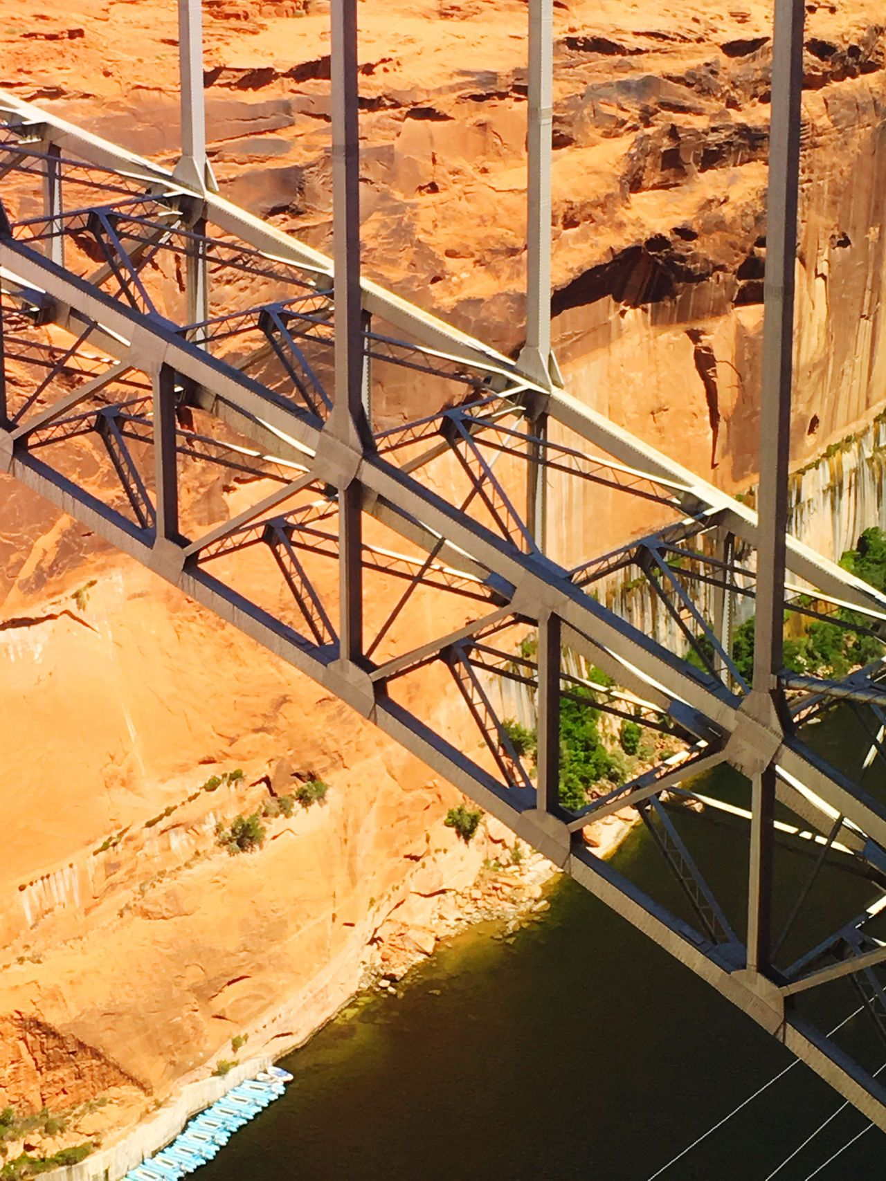 Sand Day Sunlight Nature No People Built Structure Indoors  Desert Industry Dam Lakepowell Stausee Bridge Steelframe Gorge