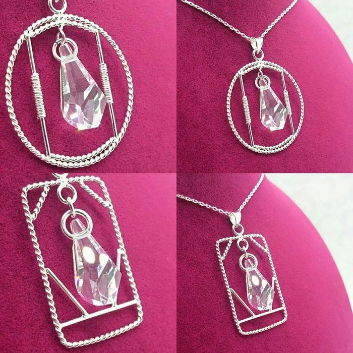 925 ayar gümüş kişiye özel özgün tasarım kristal taşlı kolyelerimizin fiyatı zinciriyle birlikte 40 TL Woman Handmade Necklaces Kolye Gümüş Elyapımı Handmade Jewellery Jewelry Silver  Pretty