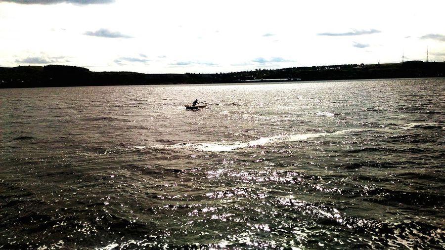 человек на воде вода Река Волга река Природа