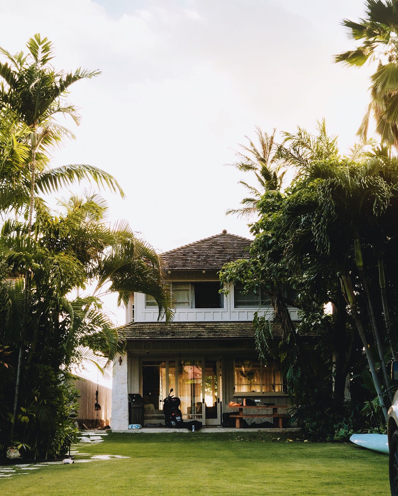 Hawaiian goals. Also, if you want to have similar edits like this, I have custom made presets. Architecture Tree Building Exterior Built Structure Grass House Day Sky Palm Tree Outdoors Growth No People