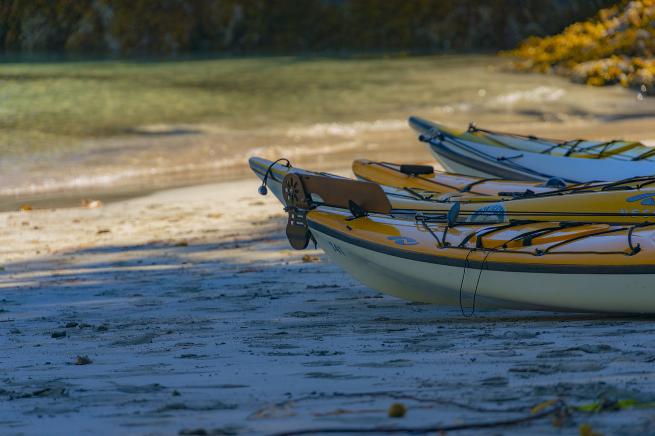 Sea kayaking near Nootka Island, July 2015 #beach #coast #kayak #ocean #oceankayak #outdoors #pacific #paddle #sand #sea #seakayak #shore #shoreline #tourism #travel #water #watersedge Beauty In Nature Boat Idyllic Nature No People Rippled Selective Focus Tranquility