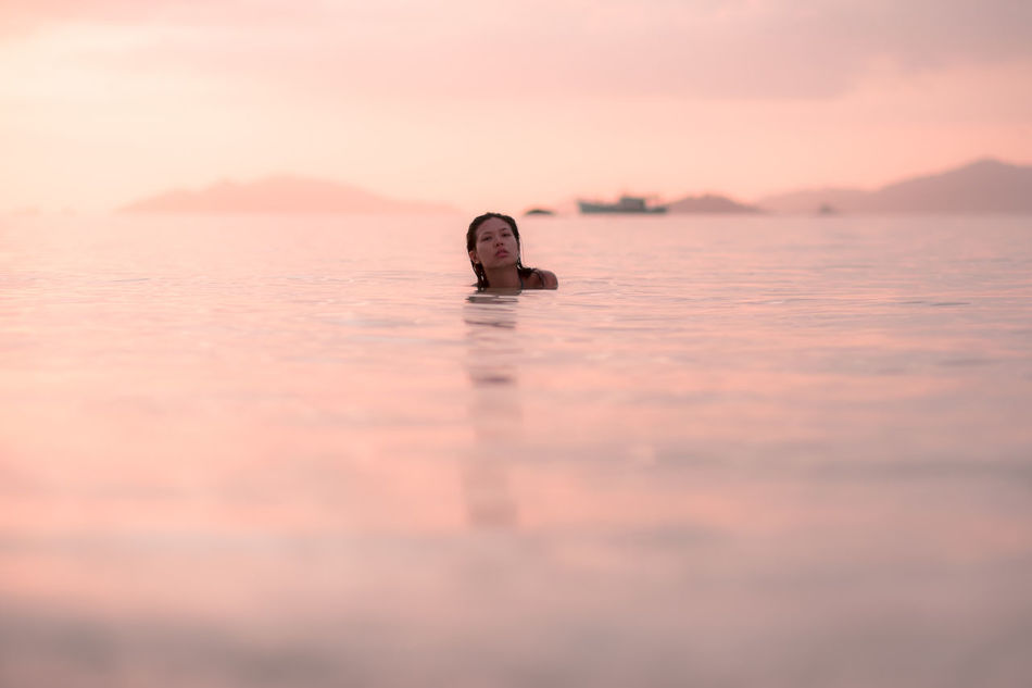 Koh Lipe Millennial Pink Outdoors Pink Reflection Relaxation Sea Summer Sunset Sunset_collection Swimming Thailand Vacations Water First Eyeem Photo Welcome Weekly