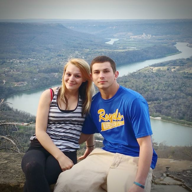 Hanging Out Love Without Boundaries Springtime ,march Showcase Enjoying Life March Showcase Spring Into Spring Taking Photos My daughter Jessica and Christian at Lookout Mountain in Chattanooga, Tn