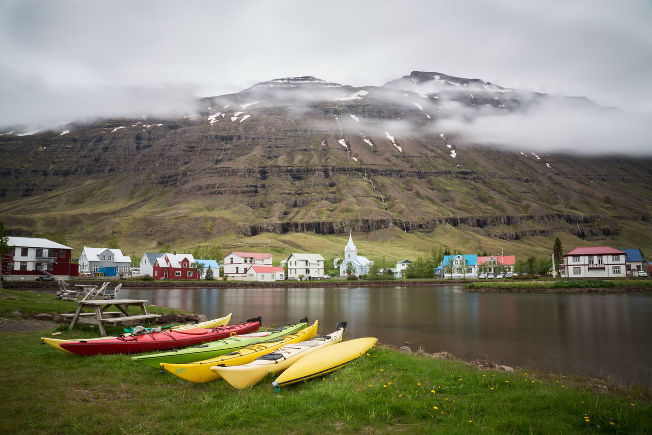 Seydisfjordur, Iceland Cloudy Cold Destination Europe Fishing Village Hamlet Iceland Isolated Landscape Nordic Peace Seydisfjorour Seyðisfjörður Sight Tourism Tradition Traditional Tranquility Vacation Village Wild