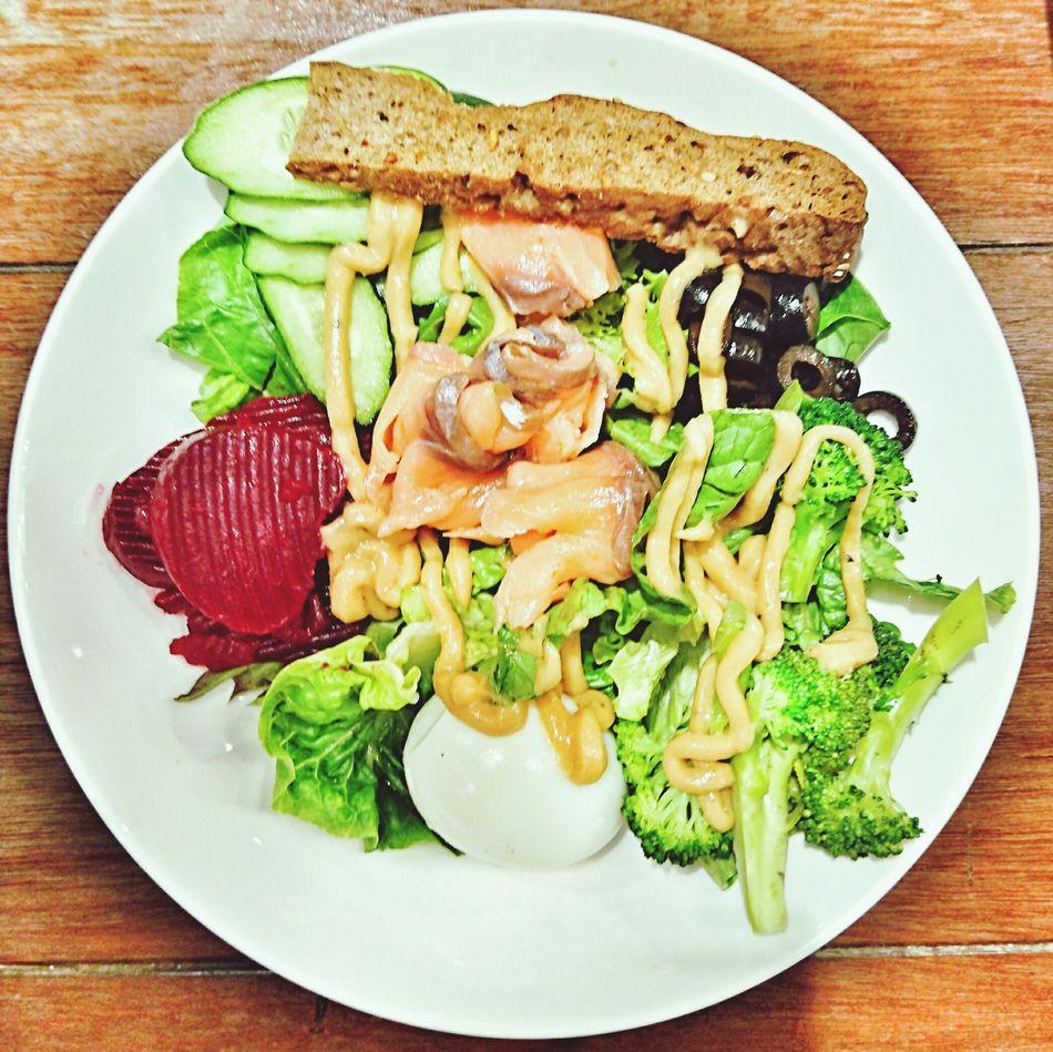 Smoked Salmon  Salad Healthy Eating Swissbake Kraftwich Singapore Foodporn EyeEm SonyZ5 AndroidPhotography
