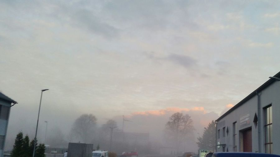 Fog No People Road Sign Outdoors Day Hello World Taking Photos Nebel Winter Morning Wolken Wolkenhimmel Beauty In Nature Nature Sky
