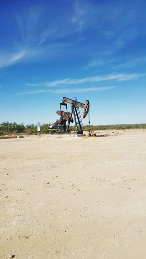 Westtexas Pumpjack Oilfield Taking Photos
