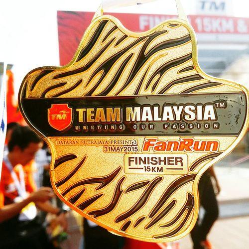 15km Tmfanrun2015 Finisher Finisher Medal EatPrayRun Runwithyourheart Running Putrajaya,malaysia Iamthefatrunner My Hobby