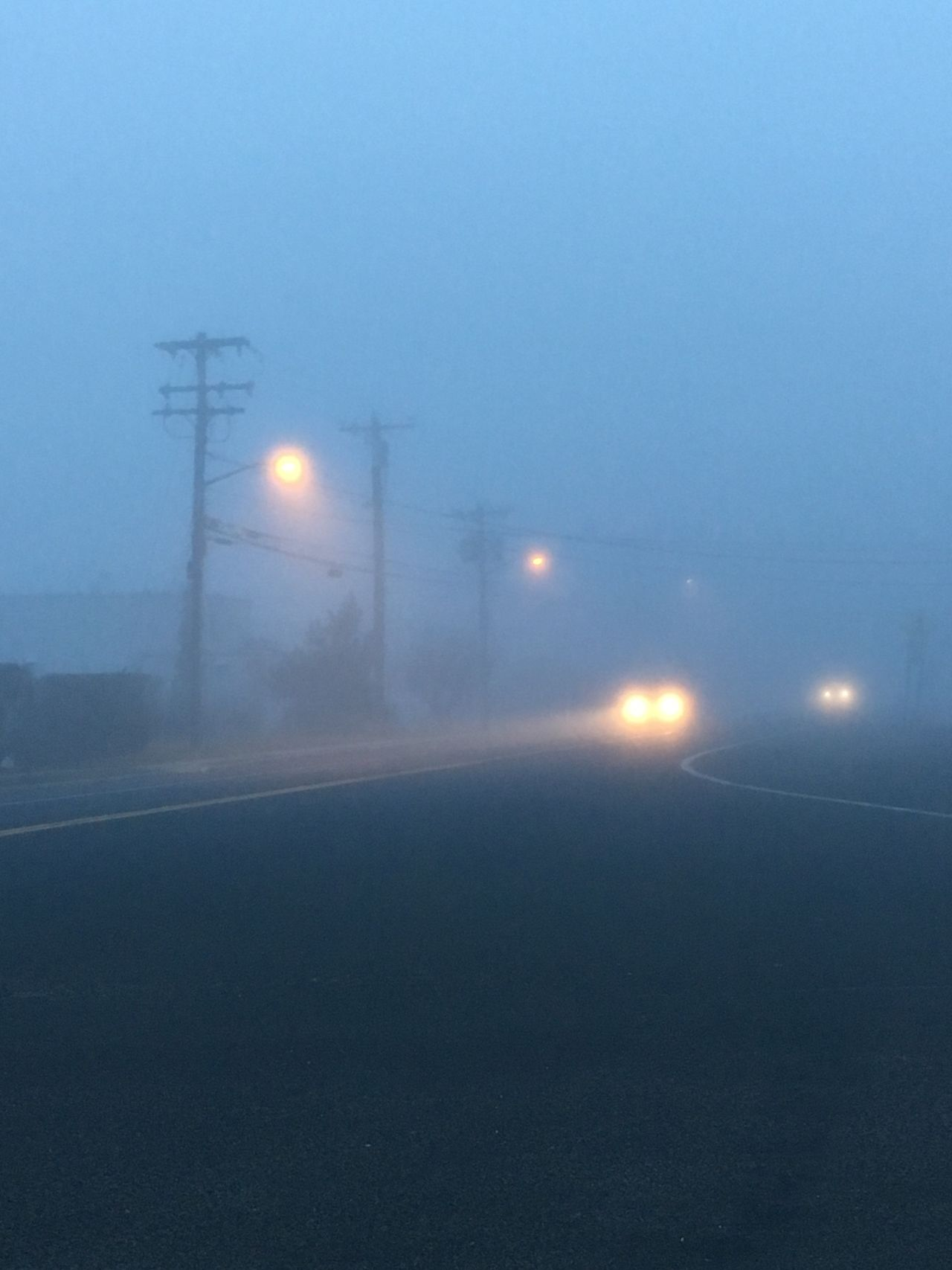 Illuminated Night Street Light Electricity  Lighting Equipment No People Outdoors Fog Cold Temperature Winter Nature Road Sky Foggy Foggy Day Foggy Weather Car Light