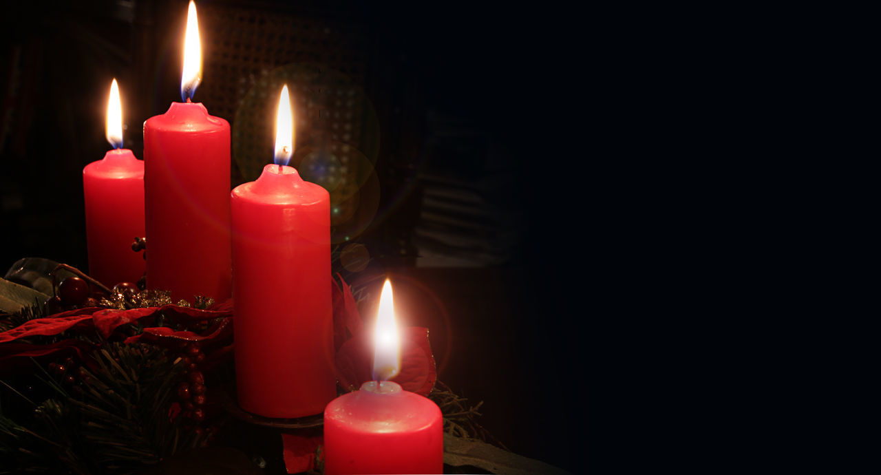 flame, candle, burning, fire - natural phenomenon, heat - temperature, glowing, celebration, tea light, illuminated, darkroom, copy space, indoors, spirituality, table, religion, no people, red, birthday candles, melting, christmas, birthday, close-up, birthday cake, black background