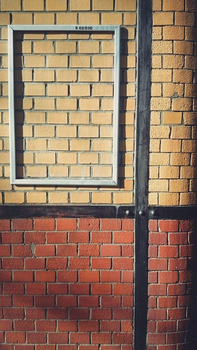 Sweet Nothing Empty Frame Brick Wall My Daily Commute Bricks Emptyness Vescocam Showcase: February
