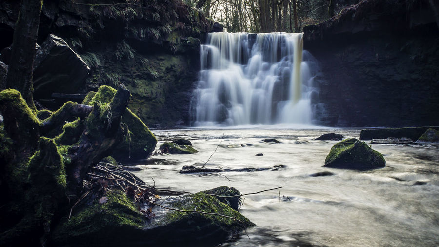 Goit Stock Waterfall, Cullingworth, West Yorkshire Beauty In Nature Blurred Motion Day Environment Forest Freshness Idyllic Landscape Landscape Photography Long Exposure Motion Nature No People Outdoors Scenics Tranquil Scene Tranquility Tree Water Waterfall