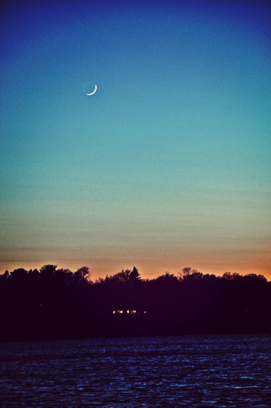 Sunset Sky Moon Don't Be Square