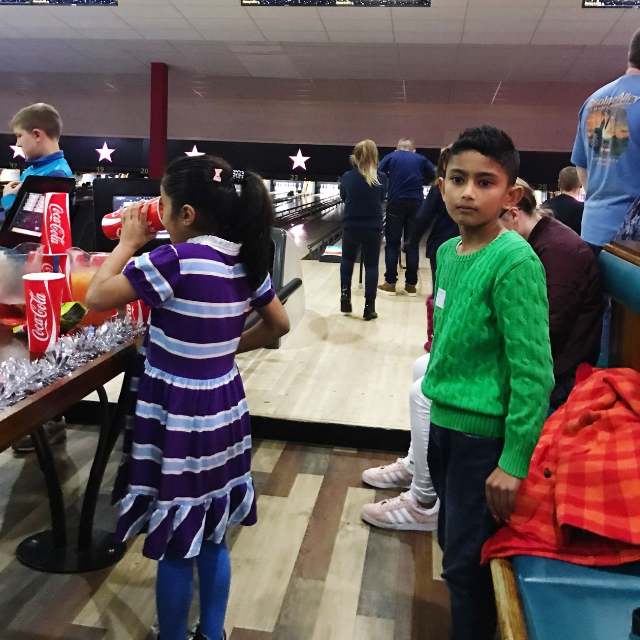 Adam Miah Amelia Miah Bowling Alley Bowling Boys Full Length Standing Indoors  People Day