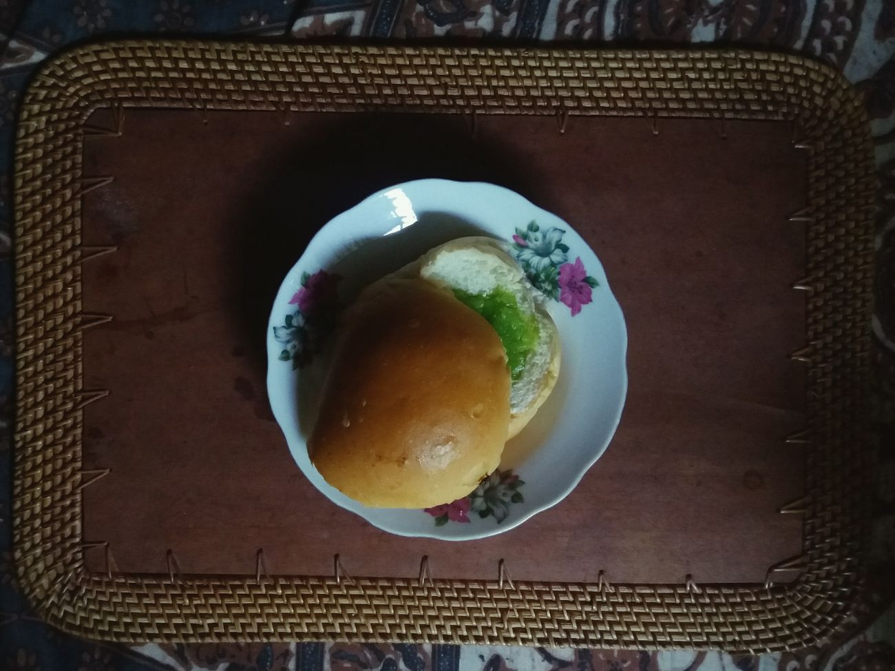 "Today's breakfast: starting with a bun spread with ""selai srikaya"" aka one of the most delicious jams in the world! 😆 Srikaya Kaya Toast Bread Buns Breakfast Indonesian Food Traditional Food"