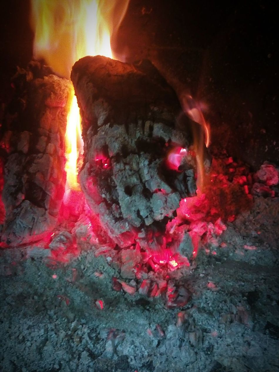 Abstract Fire Campfire Skull Flames Winter IndoorPhotography Night Chimey Chimenea