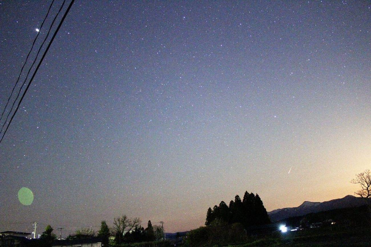無加工 流れ星 星 Night Star - Space Sky Shooting Star Beautiful Nature