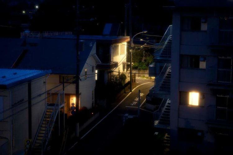 this is Tokyo for ordinary people on ordinary days. Town Home Tokyo Evening Night Ordinary Day Nostalgia City