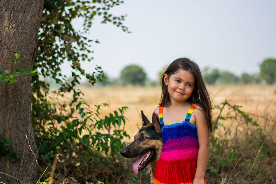 Beautiful stock photos of german shepherd, 4-5 Years, Animal Themes, Caucasian Ethnicity, Childhood