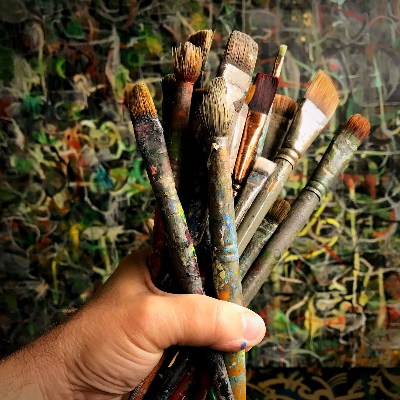 A few of my painting tools Paintbrush Art And Craft Holding One Person Close-up Human Hand Outdoors Day People Artphotography Ross Farrell Art Ross Farrell Design Painting Rossfarrell Artist Multi Colored Art Indoors  Ross Farrell Photography Ross Farrell Photos Me :)  Lifestyles
