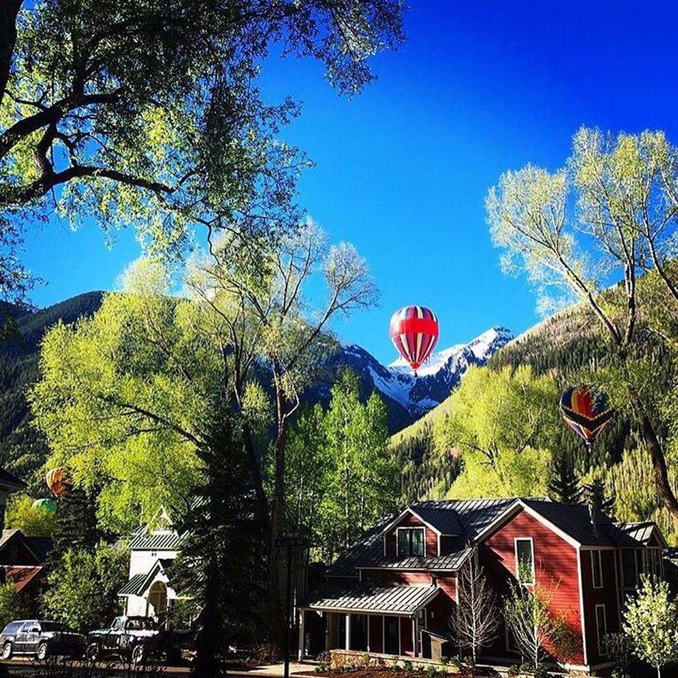 Hot Air Balloon Outdoor Photography Outdoors Blue Sky Colorado Mountains Mountain